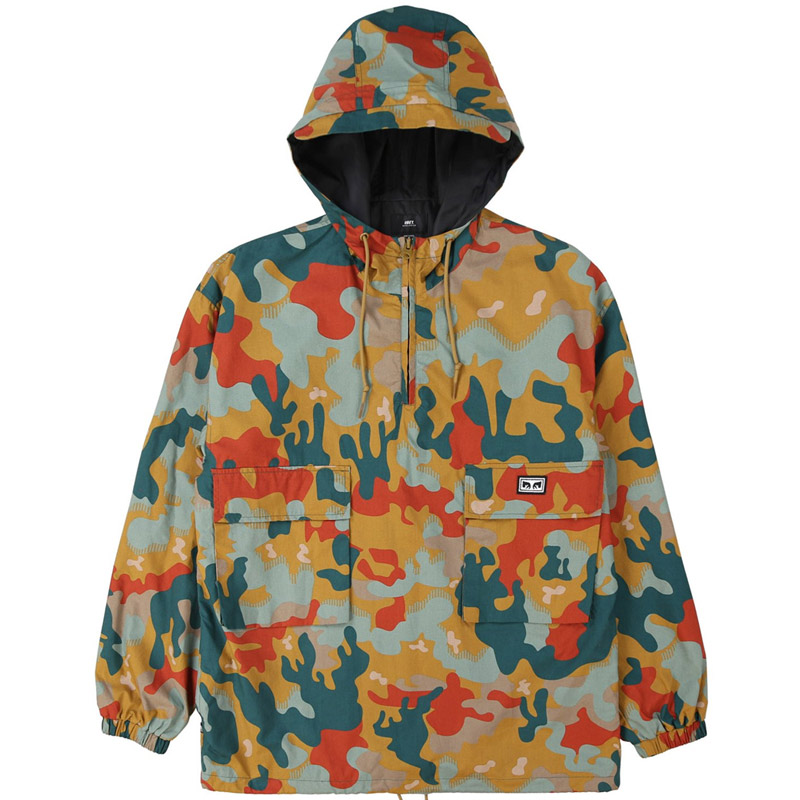Obey Lock Down Anorak Jacket Drip Camo