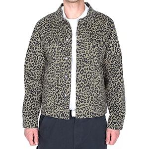 Obey Lovely Trucker Khaki Leopard