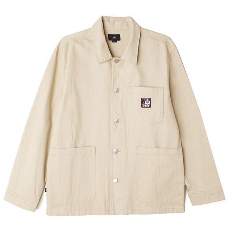 Obey Pebble Chore Jacket Natural