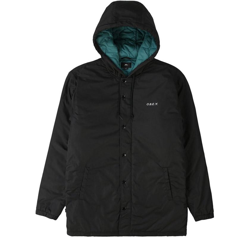 Obey Singford Parka Jacket Black