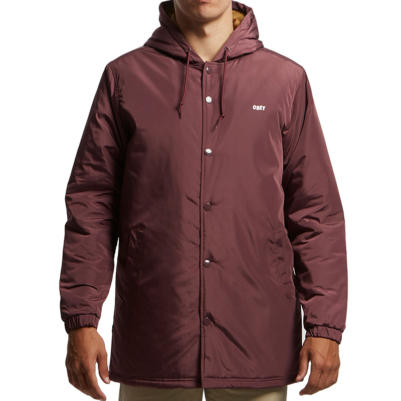 Obey Singford Stadium II Jacket Eggplant