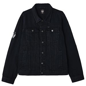 Obey X Misfits Denim Jacket Black