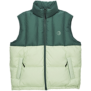 Polar Combo Puffer Vest Green/Sea Foam Green
