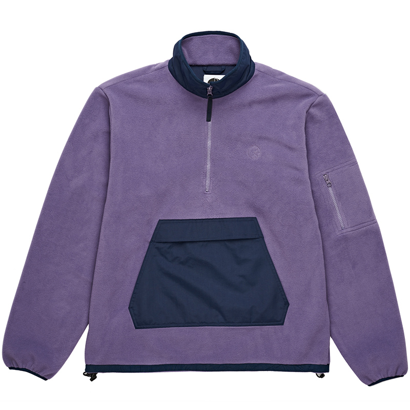 Polar Gonzalez Fleece Jacket Lilac/Navy