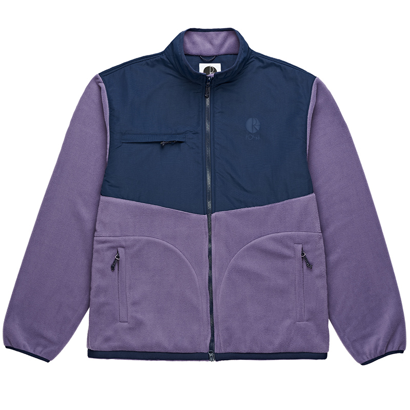 Polar Halberg Fleece Jacket Lilac/Navy