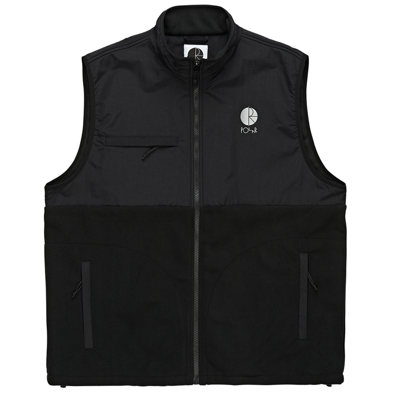 Polar Halberg Fleece Vest Black/Black