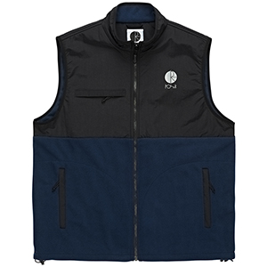 Polar Halberg Fleece Vest Black/Obsidian Blue