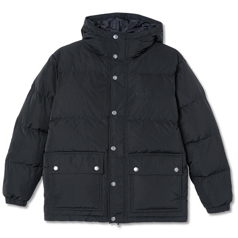 Polar Hood Puffer Jacket Black