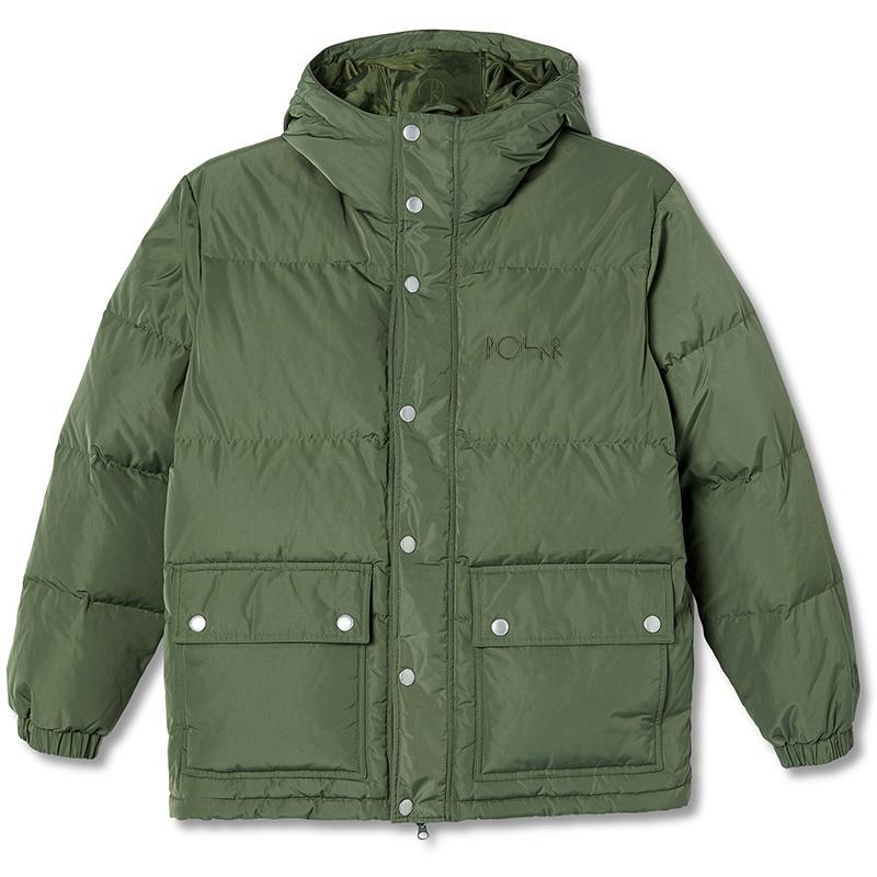Polar Hood Puffer Jacket Light Olive