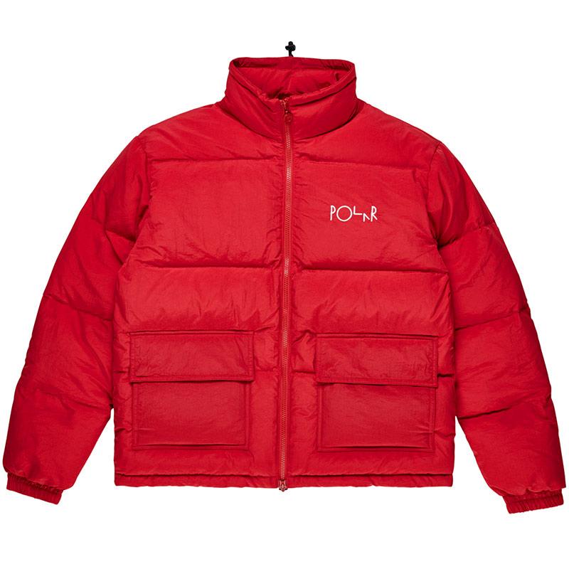 Polar Pocket Puffer Jacket Red