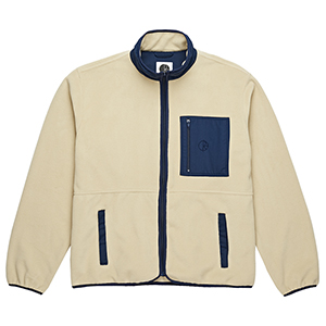 Polar Stenstrom Fleece Jacket Sand/Navy