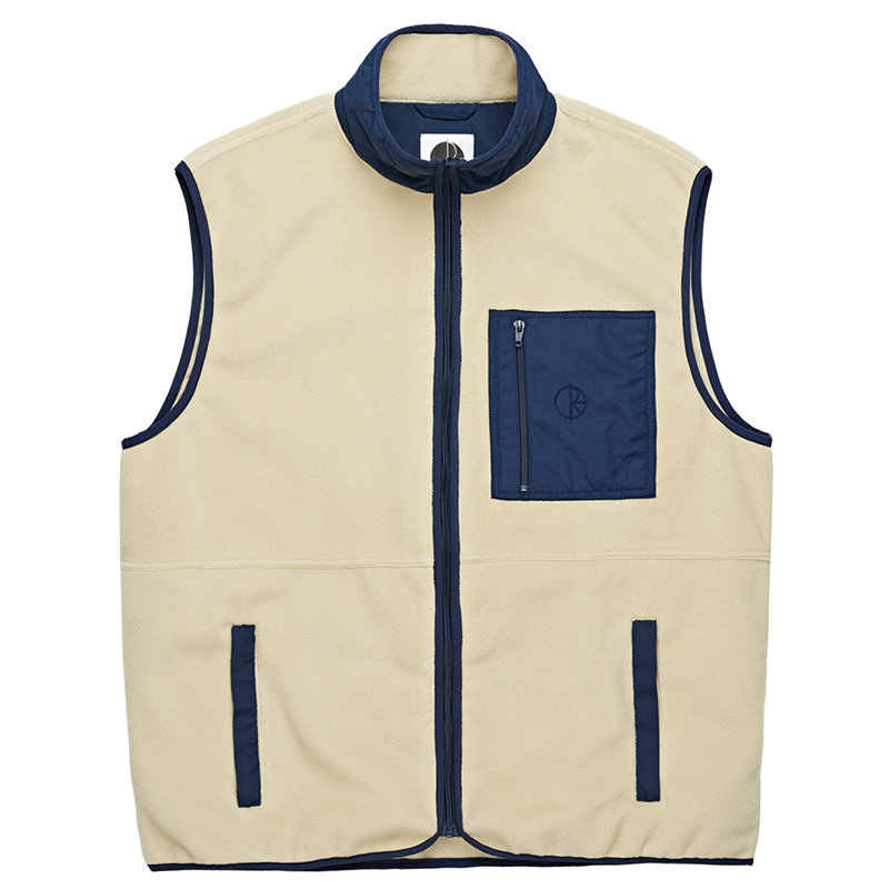 Polar Stenstrom Fleece Vest Sand/Navy