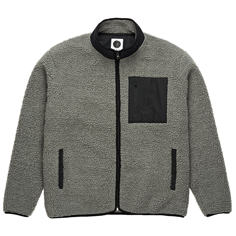 Polar Teddy Fleece Jacket Grey