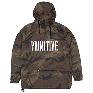 Primitive Collegiate Anorak Jacket Camo