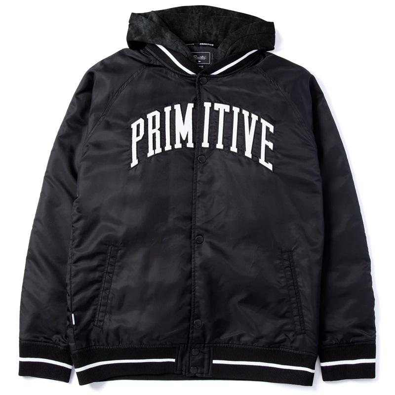 Primitive Collegiate Two Fer Varsity Jacket Black