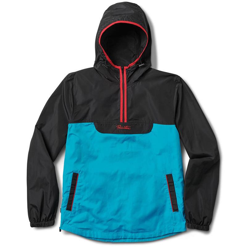 Primitive Taped Anorak Jacket Turquoise
