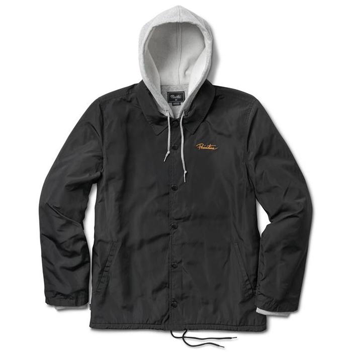 Primitive Two-Fer Nuevo Script Logo Hooded Coach Jacket Black
