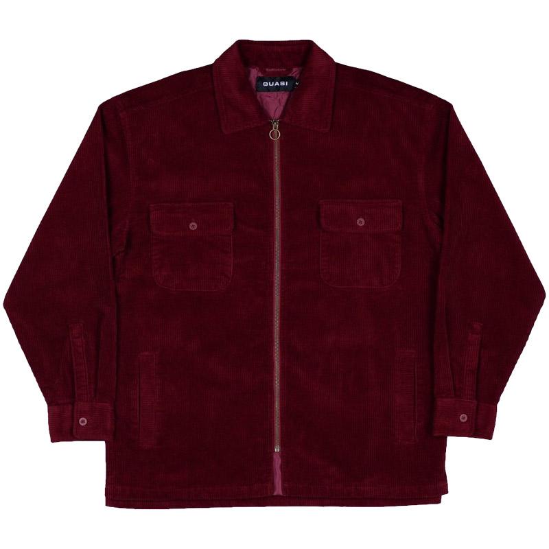 Quasi Corduroy Shirt Jacket Burgundy