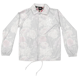 Real Bloom Coach Jacket Transparant White