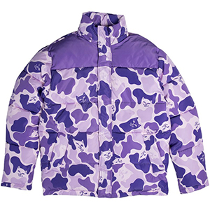 RIPNDIP Nerm Camo Puffer Jacket Purple Camo