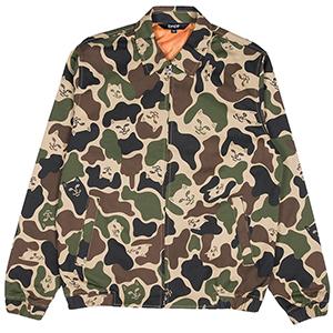 RIPNDIP Nermal Camo Cotton Coach Jacket Army Camo