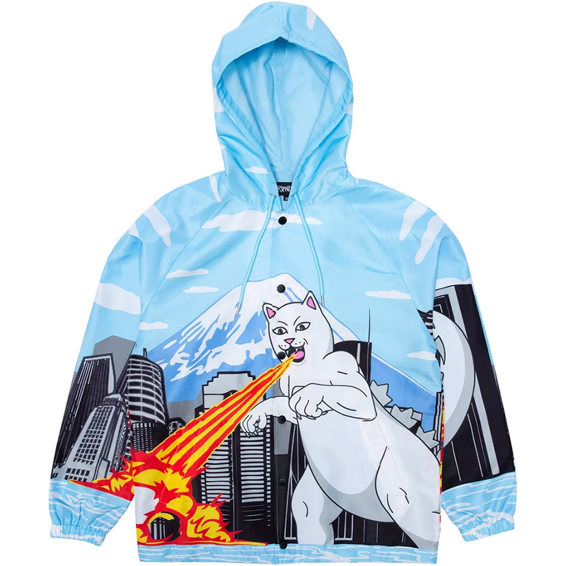 RIPNDIP Nermzilla Hooded Coach Jacket Baby Blue