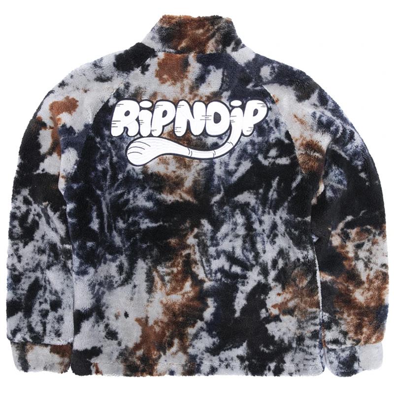RIPNDIP RIPNTAIL Sherpa Jacket Tie Dye