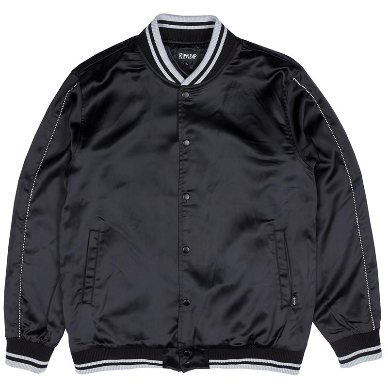 RIPNDIP Share Some Love Satin Jacket Black