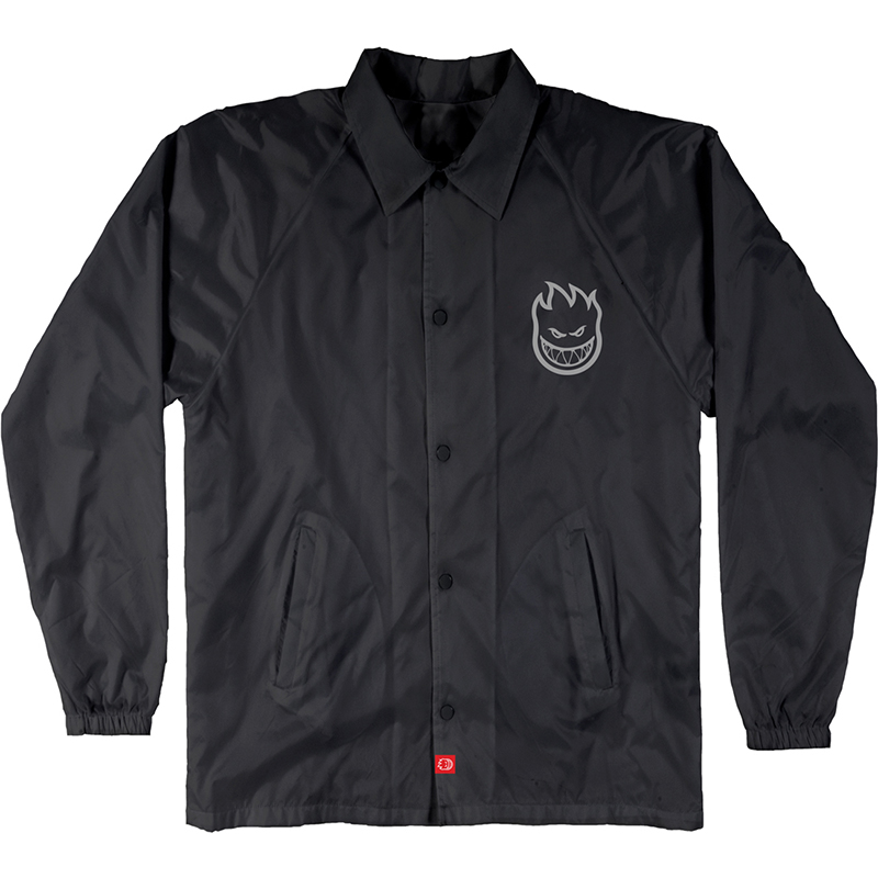 Spitfire Bighead Double Coach Jacket Black/Grey Reflective