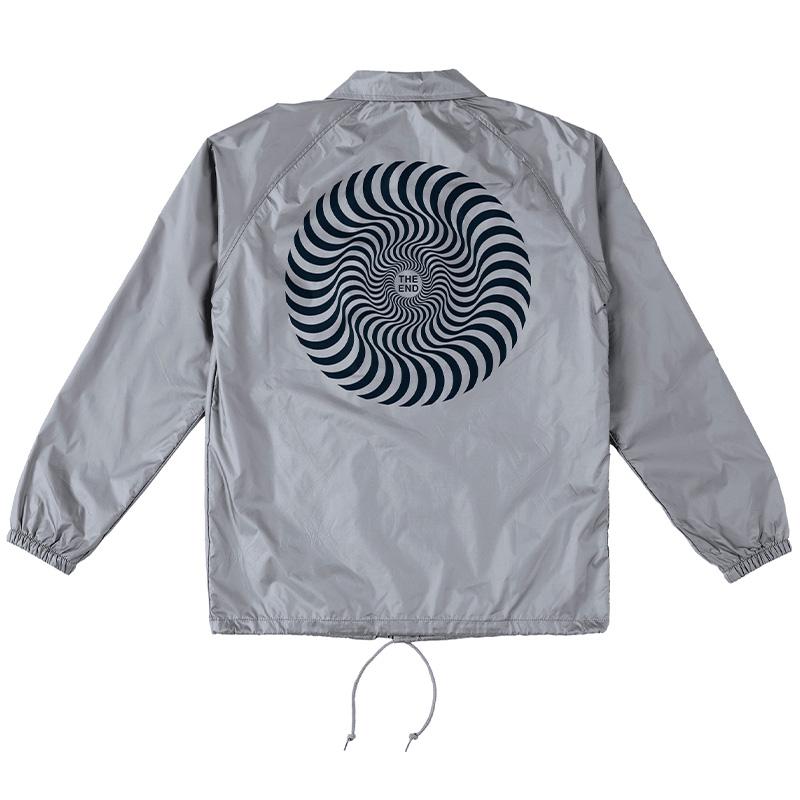 Spitfire Classic Swirl Windbreaker/Coaches Jacket Silver