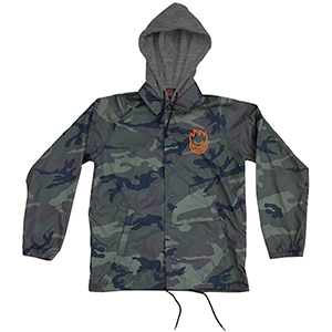 Spitfire Covert Hooded Coach Jacket Camo/Gunmetal/Black