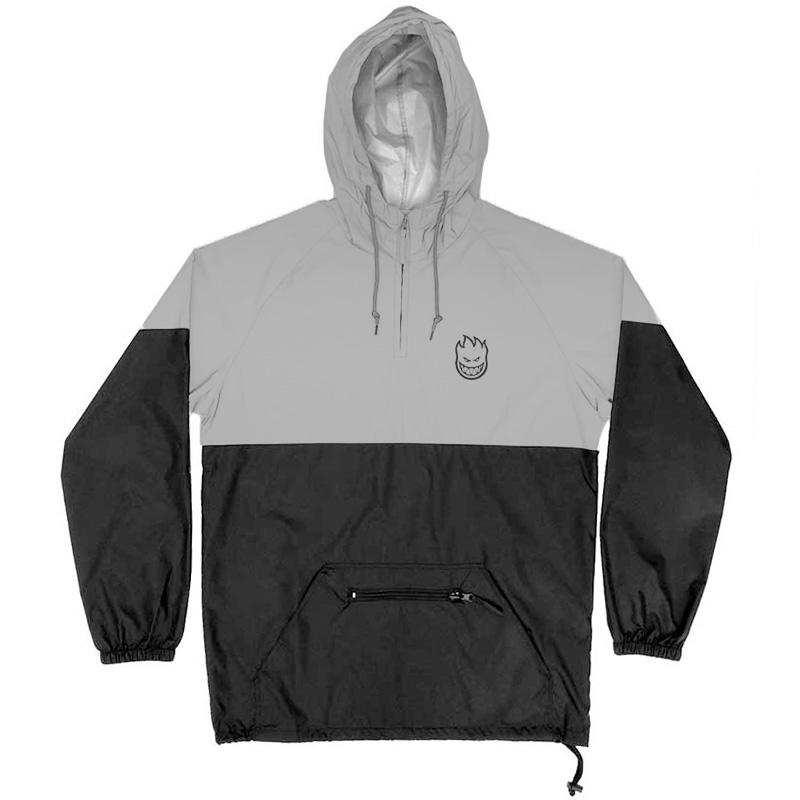 Spitfire Lil Bighead Hi-Vis Pullover Anorak Jacket Black