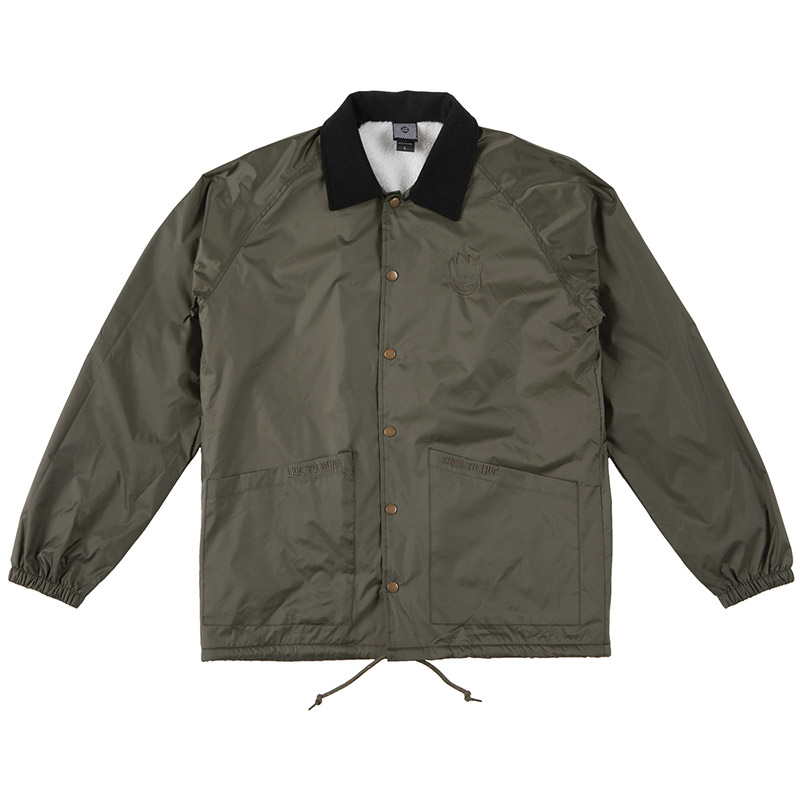 Spitfire Lil Bighead Shearling Lined Chore Jacket Olive