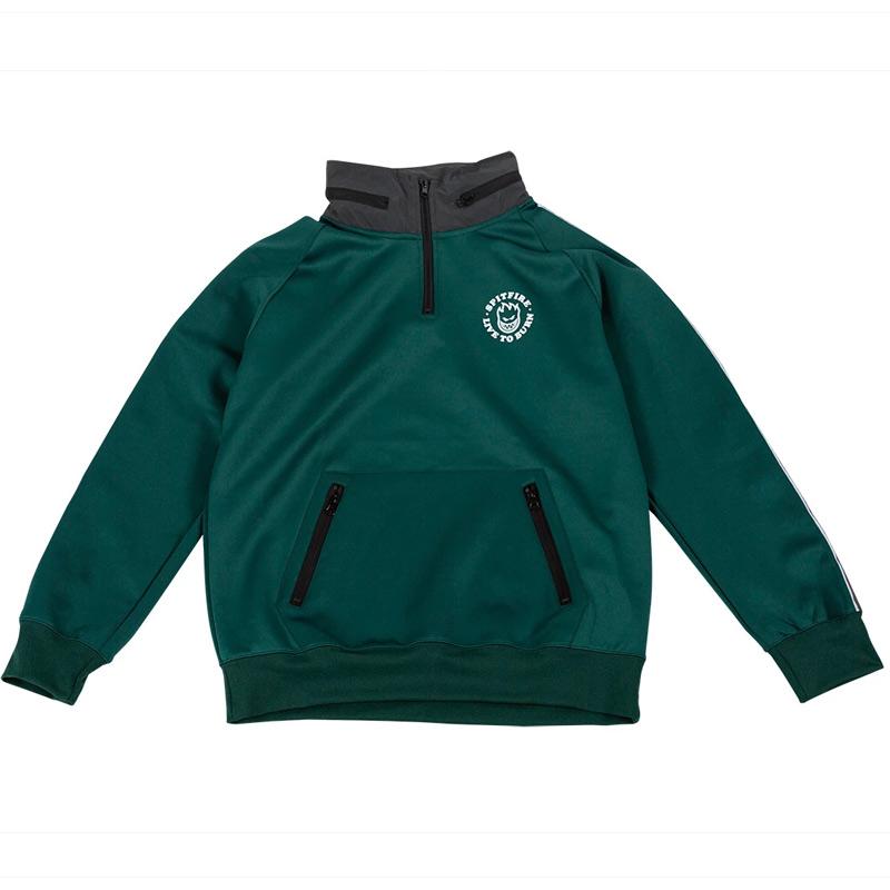 Spitfire LTB Track Pullover Jacket Dark Green