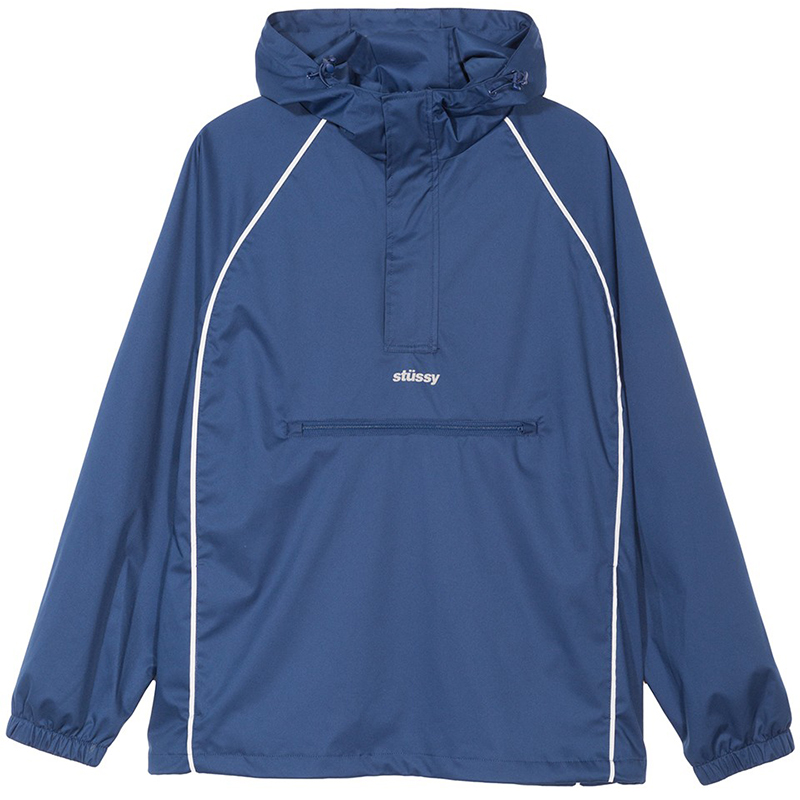 Stussy 3M Piping Pullover Jacket Navy