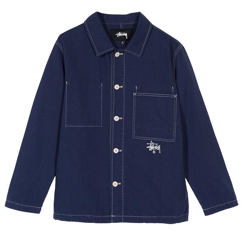 Stussy Canvas Shop Jacket Navy