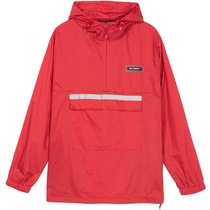 Stussy Contrast Ripstop Anorak Jacket Red