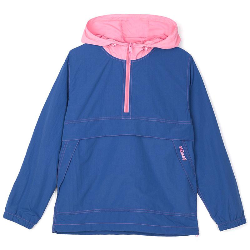 Stussy Contrast Stitch Pullover Jacket Navy