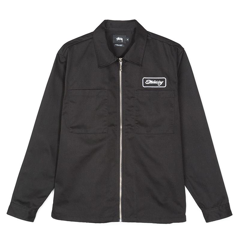 Stussy Full Zip Work Jacket Black