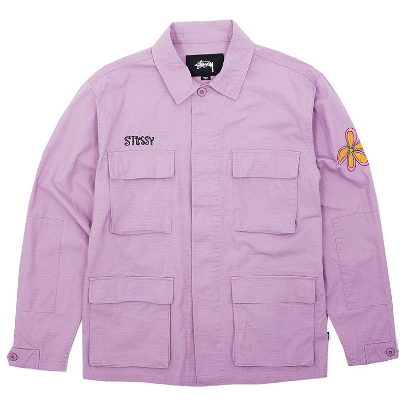 Stussy Letts Bdu Jacket Lavender