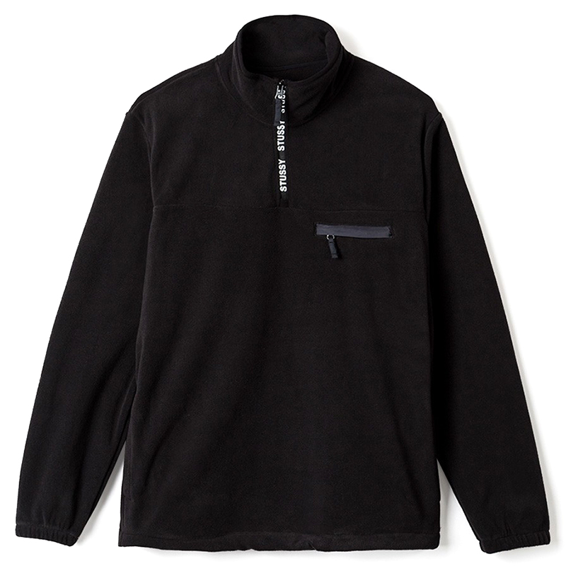 Stussy Logo Tape Mock Jacket Black