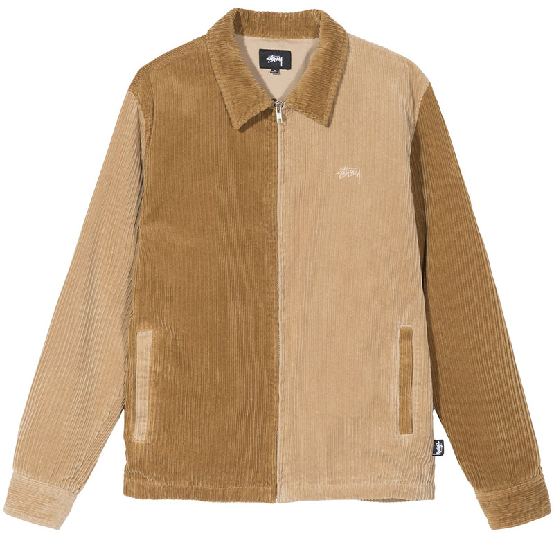 Stussy Mix Up Cord Jacket Brown