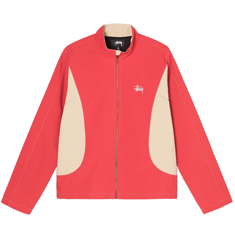Stussy Panel Track Jacket Red
