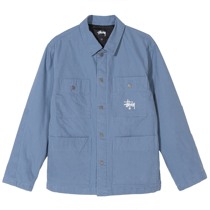 Stussy Quilted Chore Coat Blue