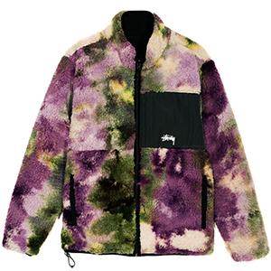 Stussy Reversible Micro Fleece Jacket Tie Dye