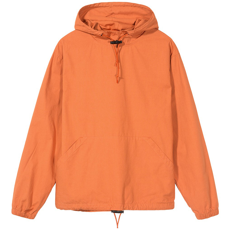 Stussy Ripstop Pullover Jacket Rust