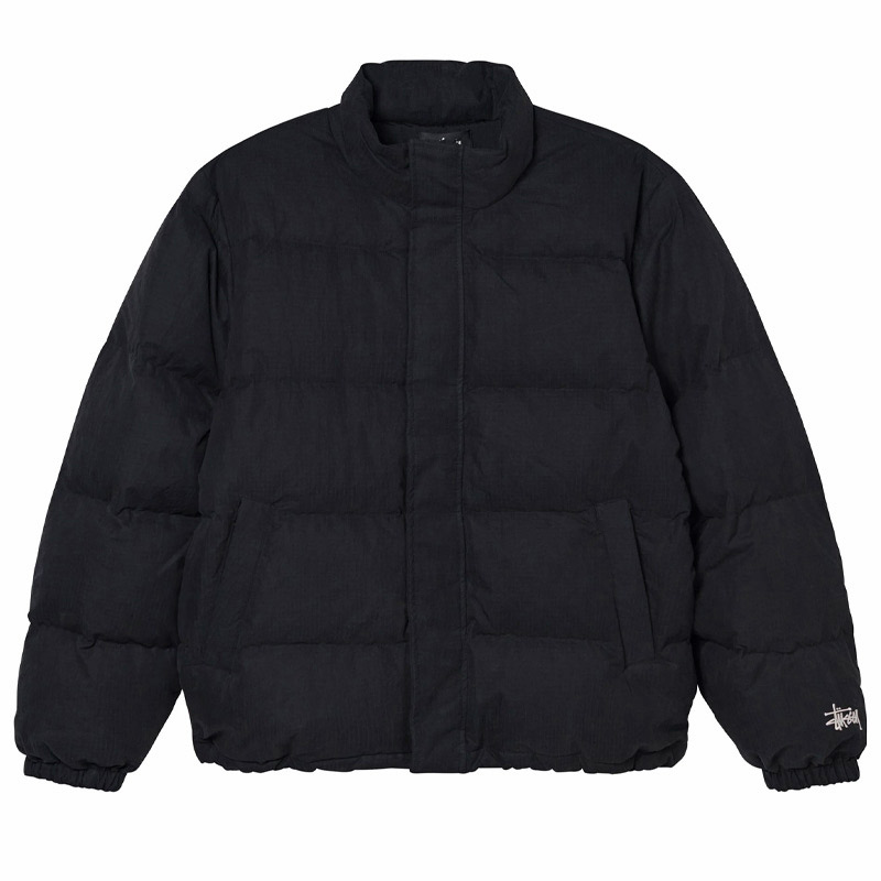 Stussy Solid Puffer Jacket Black