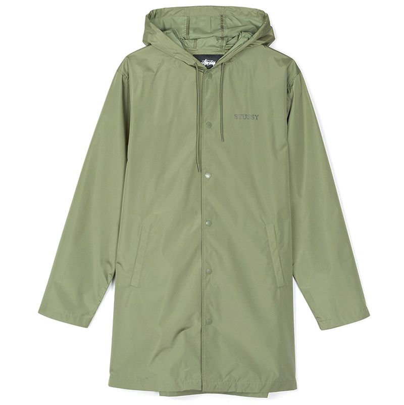 Stussy Tony Long Hooded Coach Jacket Olive
