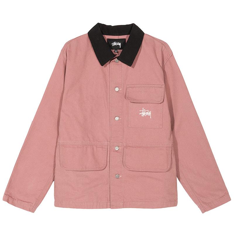 Stussy Washed Chore Jacket Rose