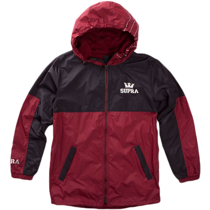 Supra Dash Track Jacket Burgundy/Black